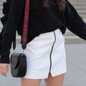 Topshop Zipper Mini Skirt